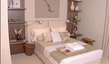 room service: wall/shelf/bedside table